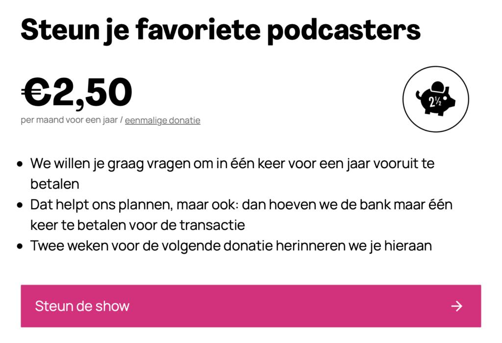 Met de link achter dit plaatje kom je op de website van Vriend van de Show, waar het doen van donaties een optie is.